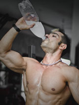 Trainer drinking Water
