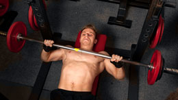 Weightlifter doing Bench Presses