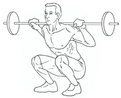 Deep Squats - Bottom of Exercise
