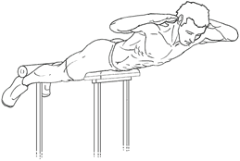 Hyperextensions - Top of Exercise