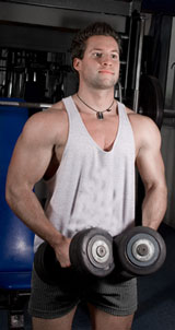 Weight Trainer Doing Lateral Raises