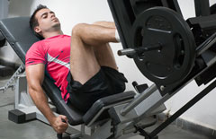 Lifter doing the Leg Press