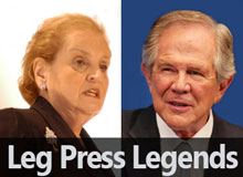 Leg Press Legends: Madeleine Albright and Pat Robertson