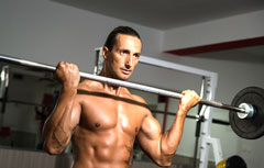 Training With Barbell Biceps Curls