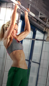 Woman Demonstrating Pull-Up Form
