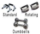 Standard, Rotating and Dumbbell Push-Up Handles