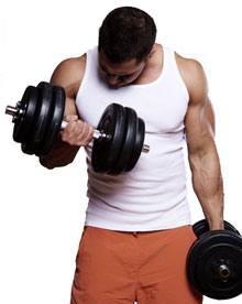 Trainer doing Biceps Curls