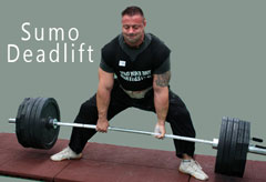 Demonstrating the Sumo Deadlift