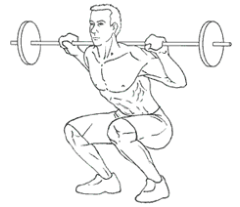 Squats - Bottom of Exercise