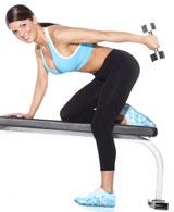 Woman Demonstrating Triceps Kickbacks