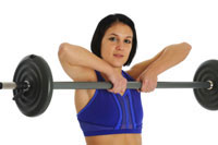 Woman doing Upright Rows