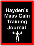 Hayden's Mass Gain Training Journal